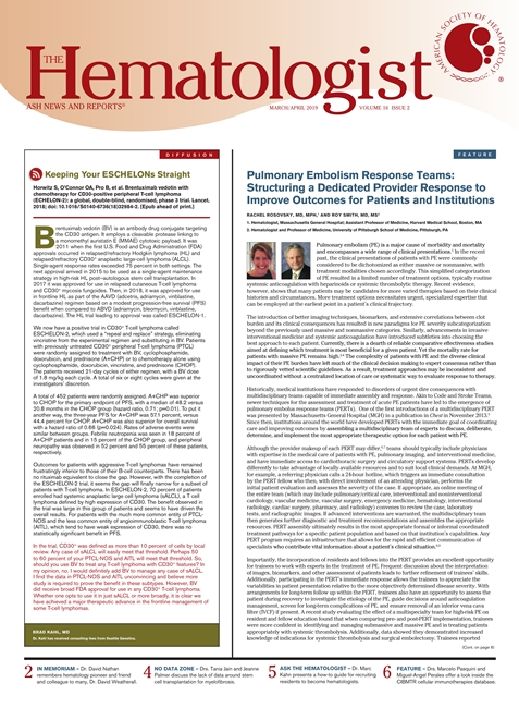The Hematologist March April 2019
