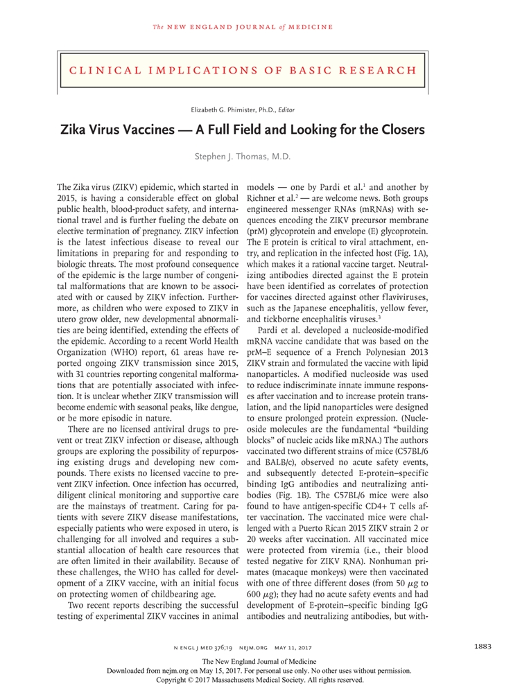 zika virus- a full field and looking for the closers